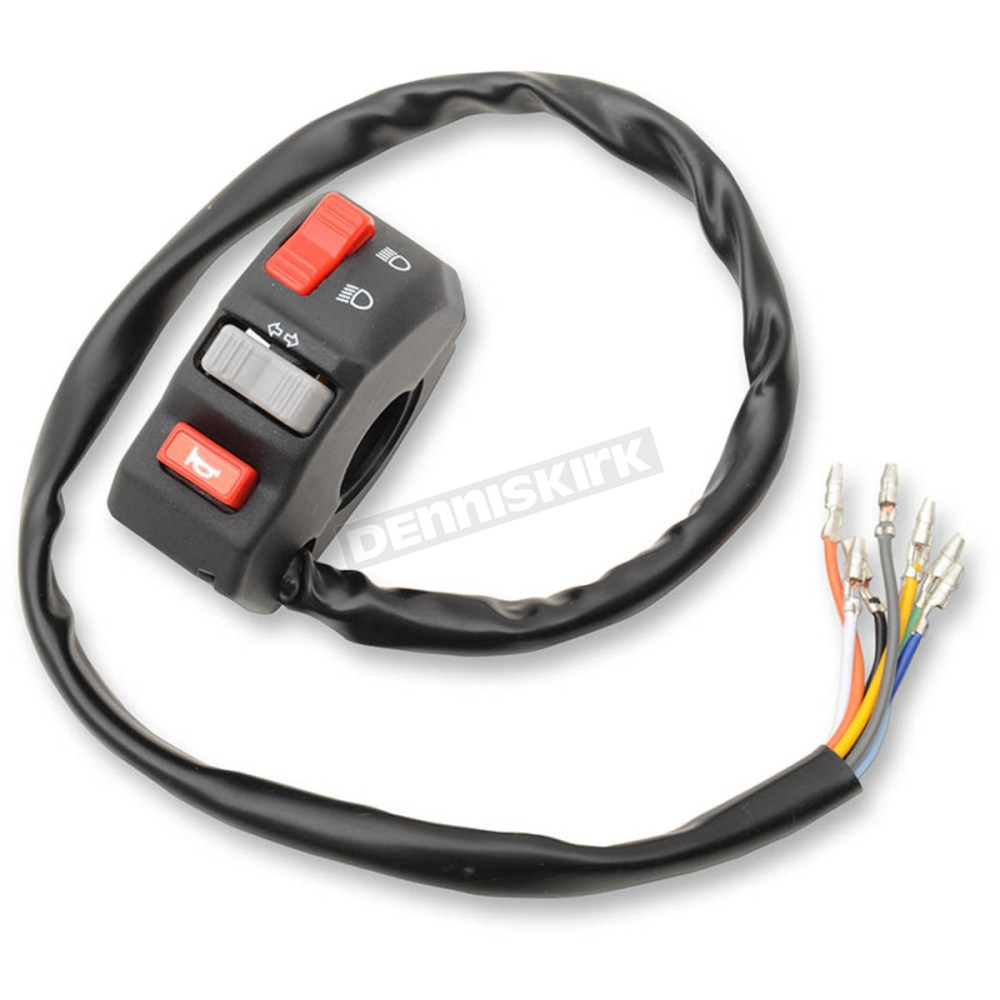 medium resolution of emgo universal left side handlebar switch 46 68734