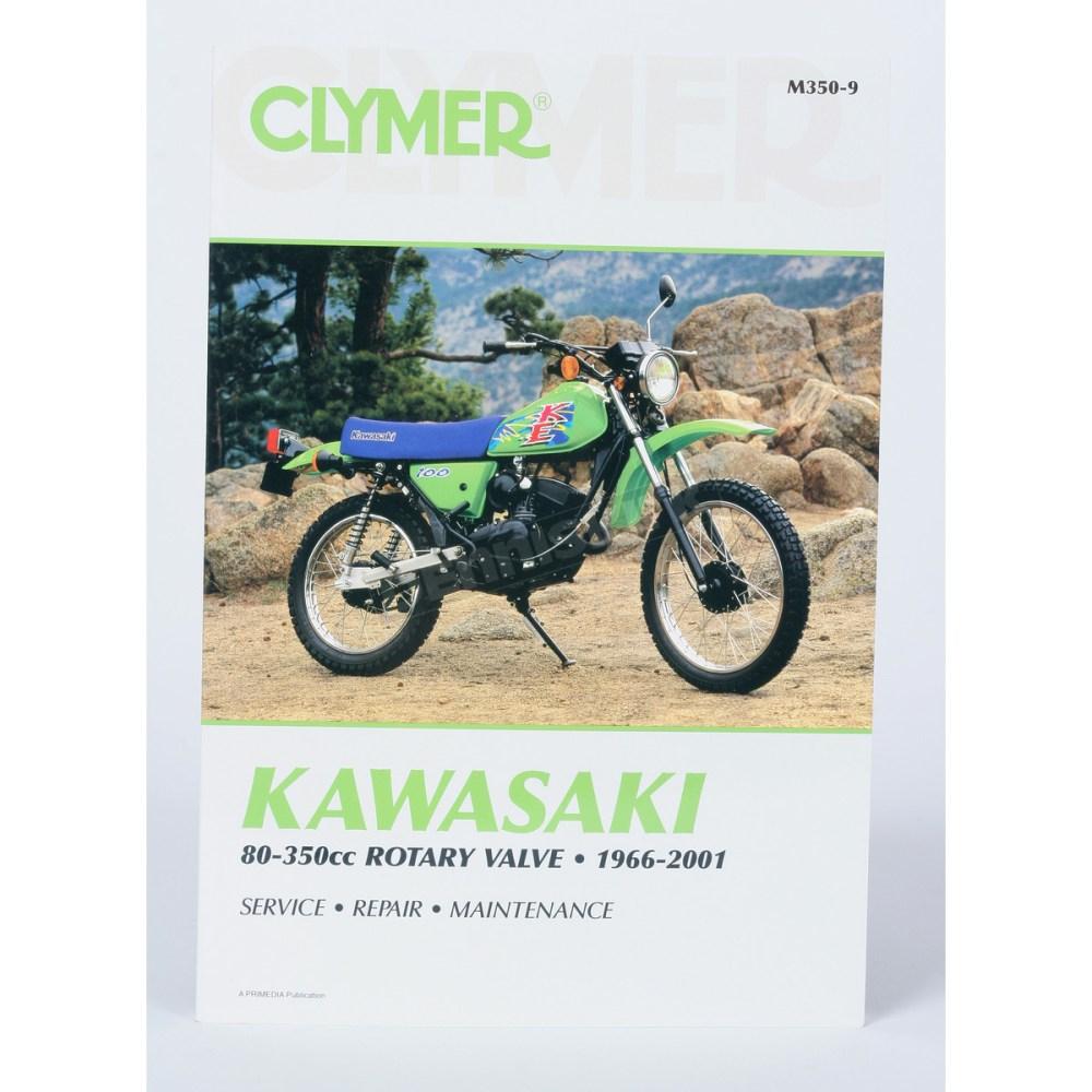 medium resolution of clymer kawasaki repair manual m350 9