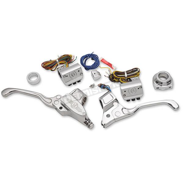 Performance Machine Chrome Handlebar Control Kit w/Cable
