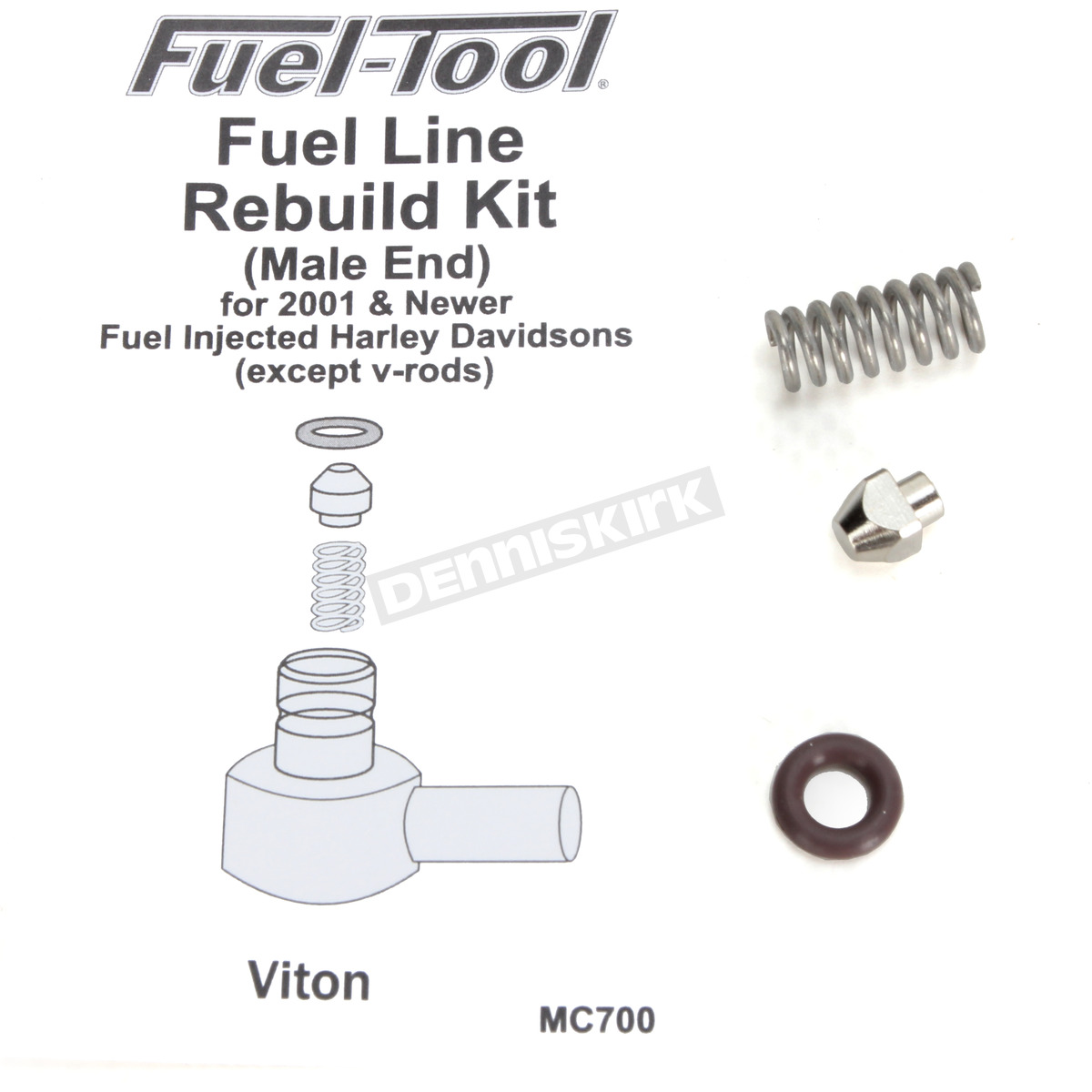 Fuel Tool Fuel Line Male End Rebuild Kit