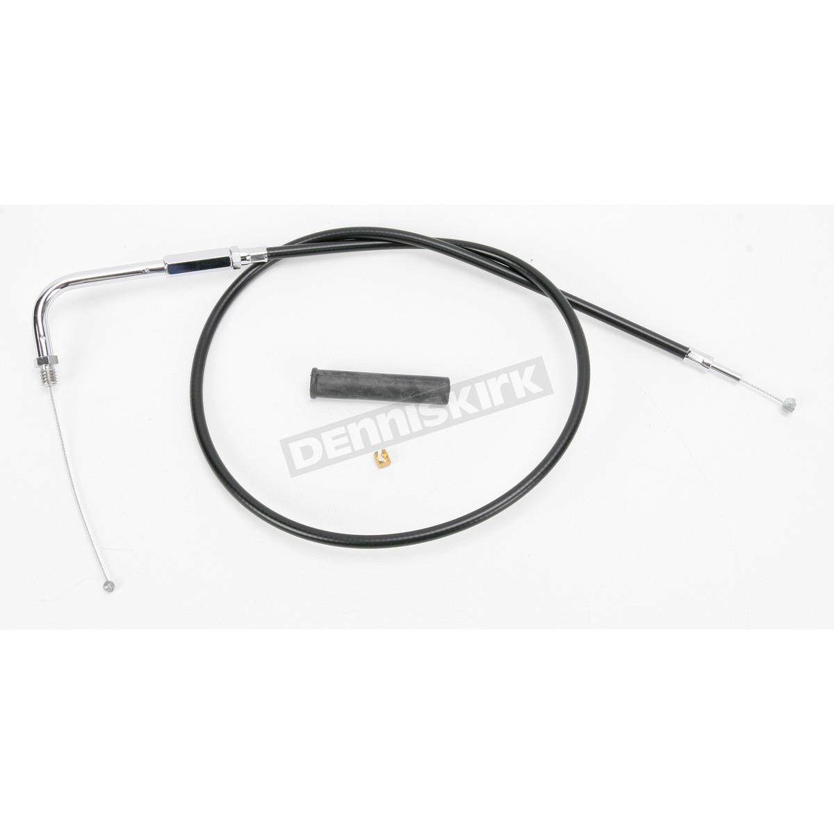 Drag Specialties Black Vinyl Throttle Cable w/90 Degree