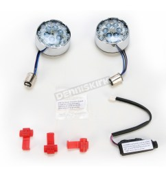 front bullet style chrome led turn signal inserts 5443  [ 1200 x 1200 Pixel ]