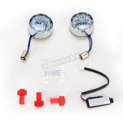 small resolution of front bullet style chrome led turn signal inserts 5443