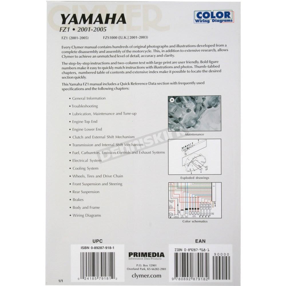 medium resolution of  yamaha fz1 repair manual m399