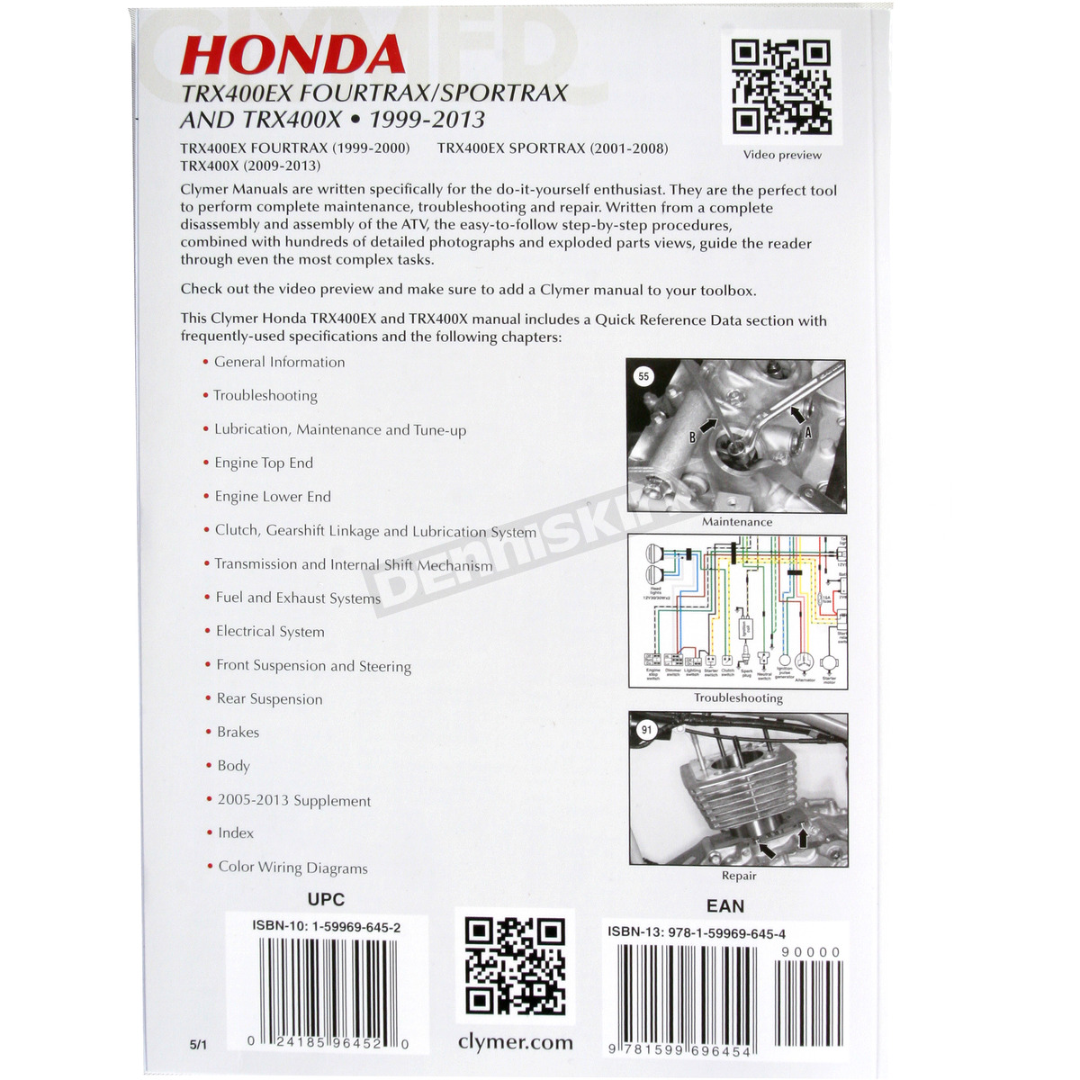 2014 Honda Trx400x Service Manual