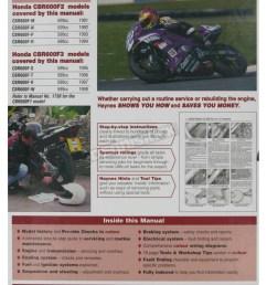 honda haynes honda cbr600f2 cbr600f3 repair manual 2070 sport bike on honda 96 cbr 600 wire  [ 1200 x 1200 Pixel ]
