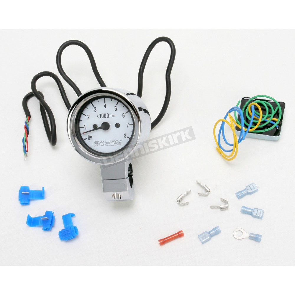 medium resolution of bullet tachometer white face for 1 in