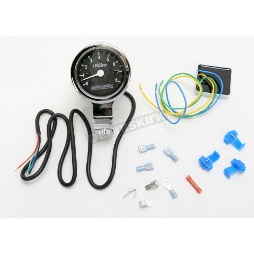 small resolution of bullet tachometer black face for 1 1 4 in