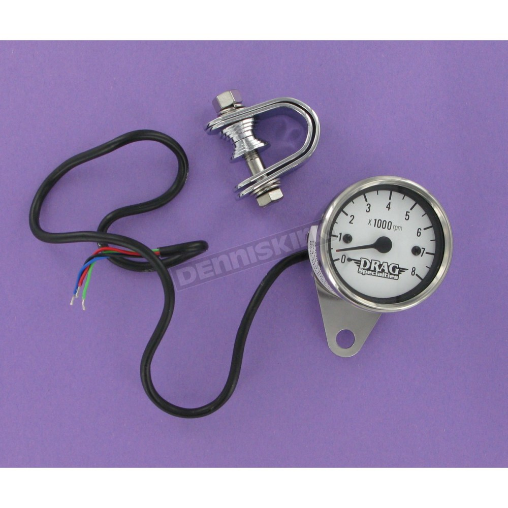 medium resolution of drag specialties electrical mini 8000 rpm tachometer w white face 2211 0058