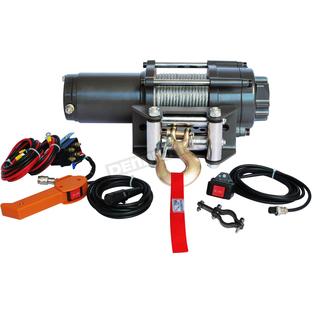 hight resolution of falcon 2500lb winch with wire rope ewp2500a u