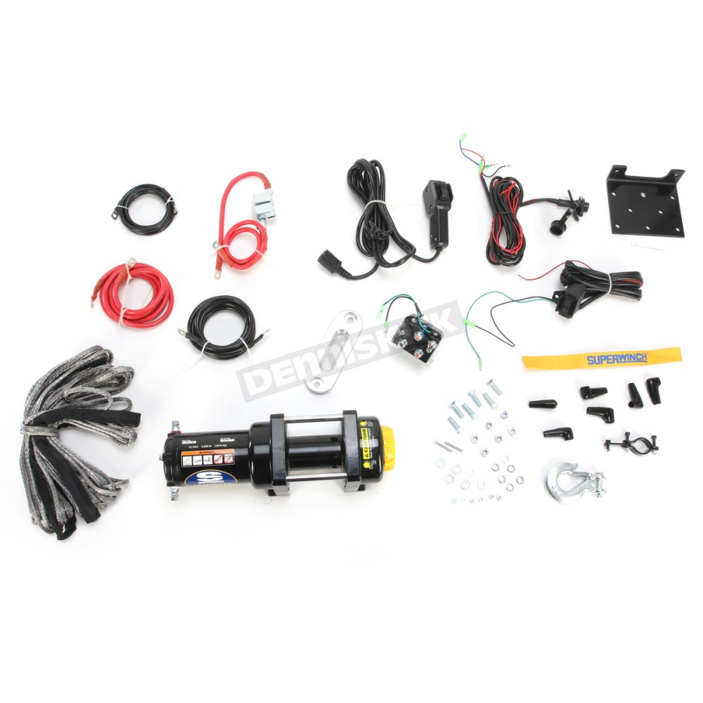 medium resolution of lt4000atv sr 4000lb winch with synthetic rope 1140230