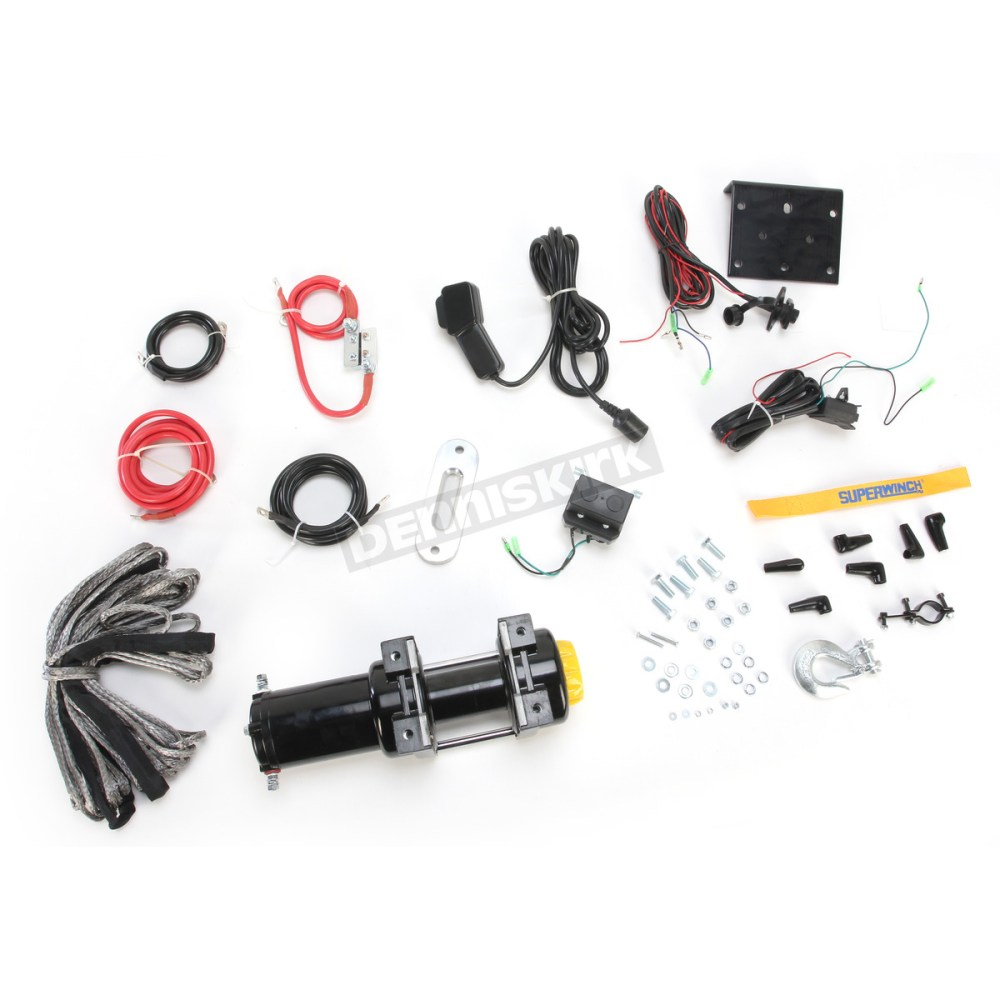 medium resolution of superwinch lt4000atv sr 4000lb winch with synthetic rope 1140230 dennis kirk