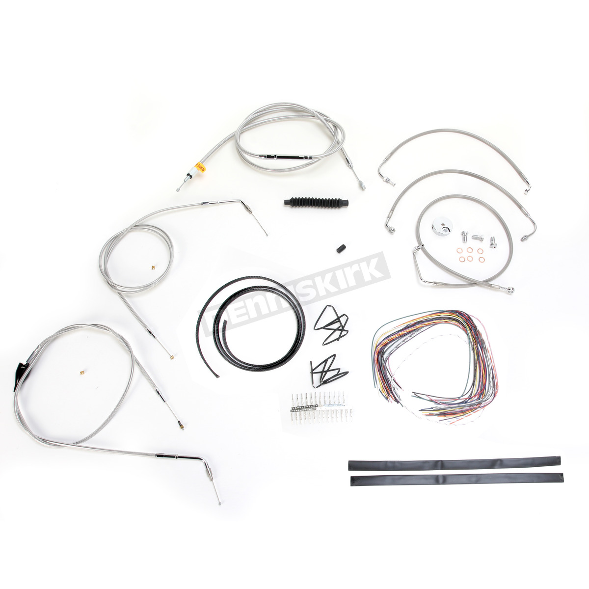 LA Choppers Stainless Braided Handlebar Cable and Brake
