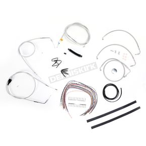 LA Choppers SS Braided Handlebar Cable and Brake Line Kit