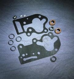 oil pump gasket seal set with black paper gaskets 81 flh  [ 1200 x 1200 Pixel ]