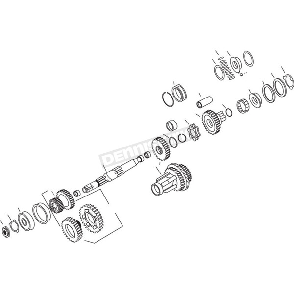 Andrews 2.60:1 1st Gear Set for 4-Speed Transmissions