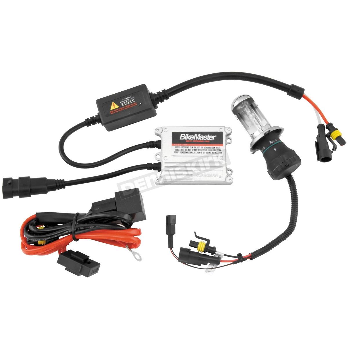 hight resolution of bikemaster h i d headlight kit w white bulb 6000k h4hl