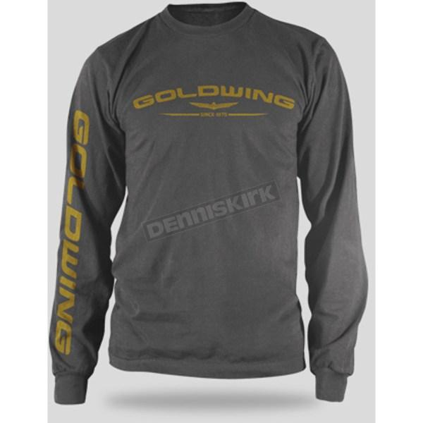 Honda Charcoal Goldwing Long Sleeve T-shirt - 54-7168