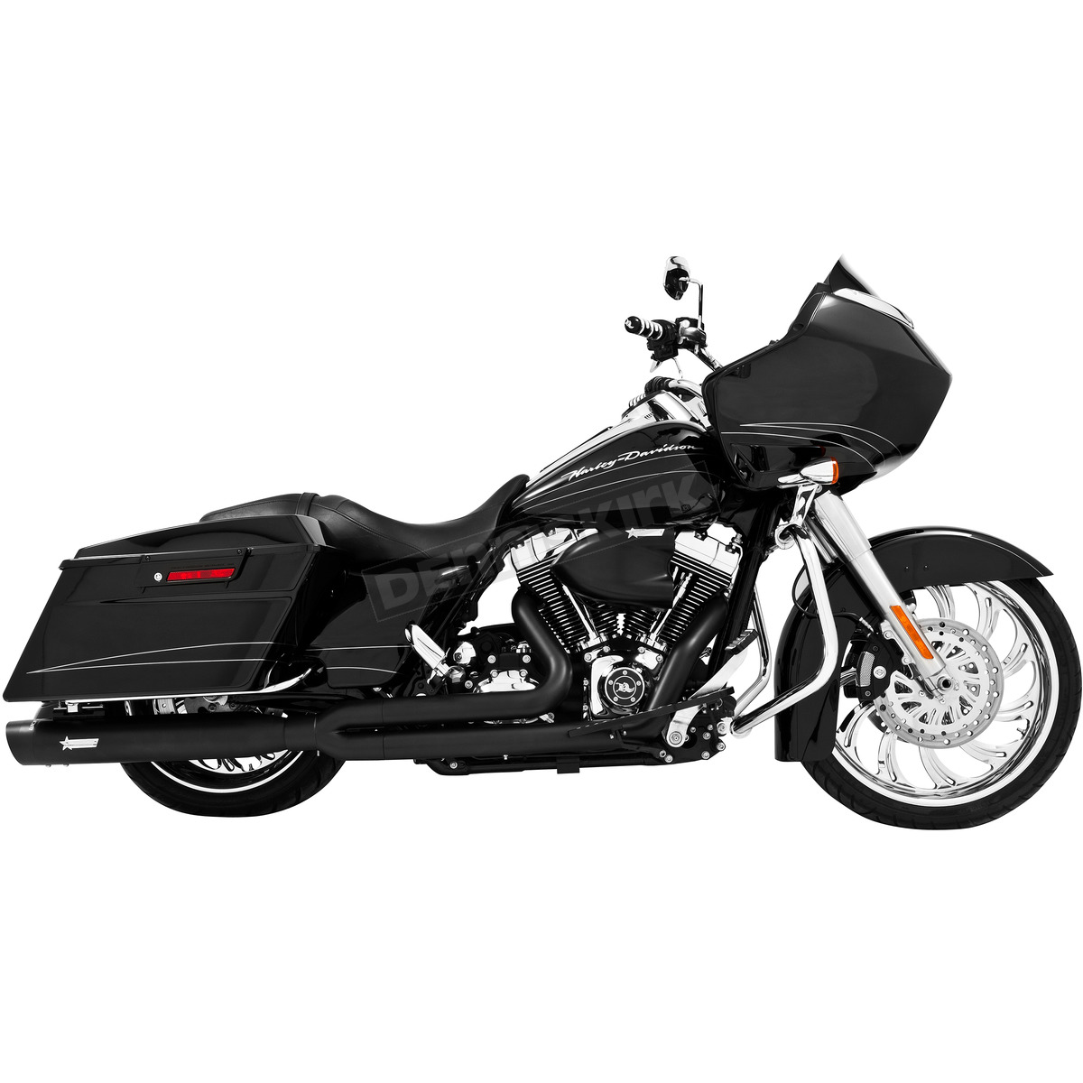 black union 2 into 1 exhaust system hd00233