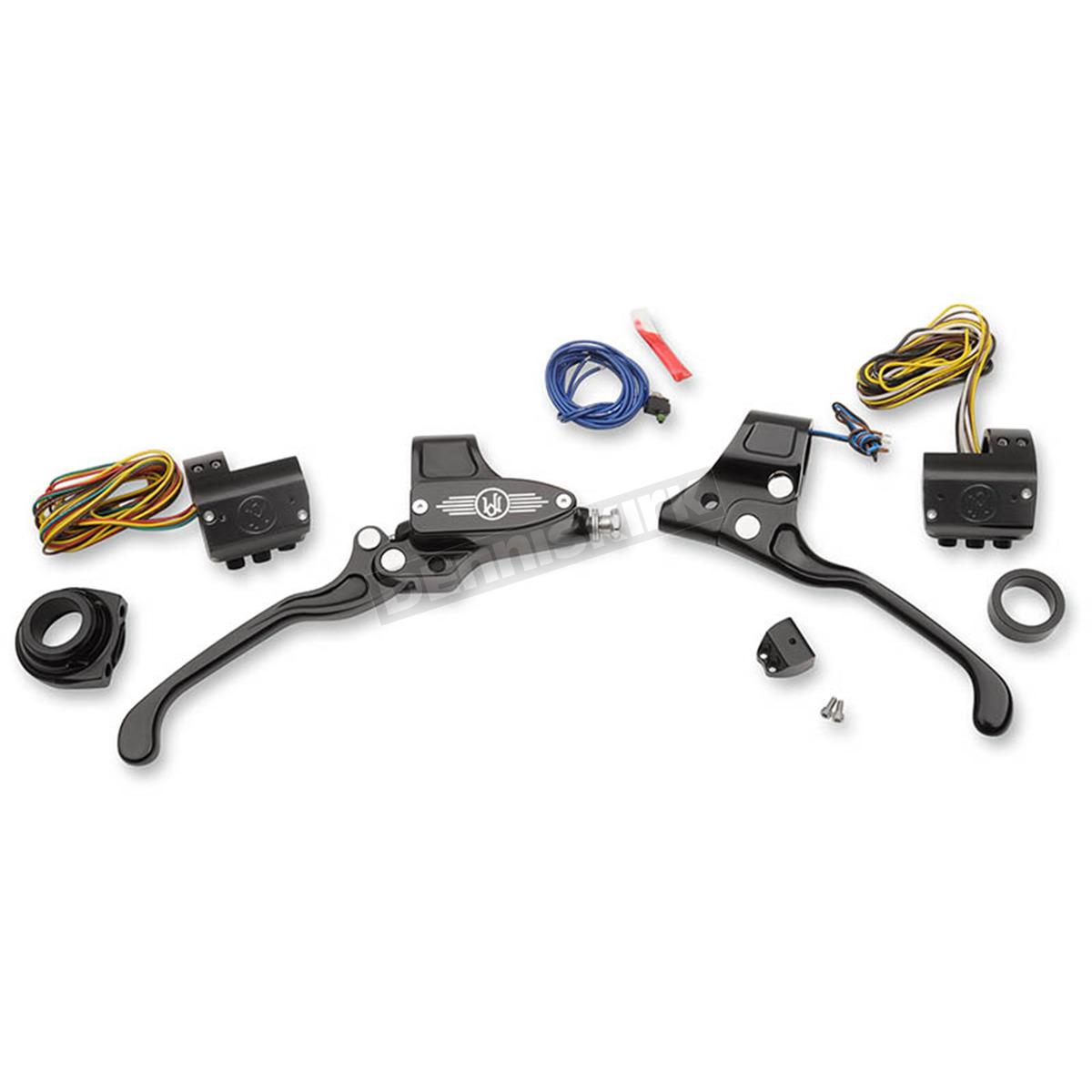 Performance Machine Black Complete Handlebar Control Kit w