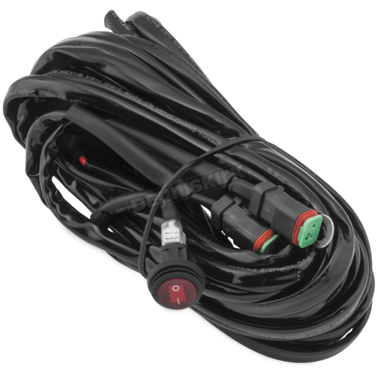 hight resolution of quadboss wiring harness b dual dt connectors for lights up to 150w each