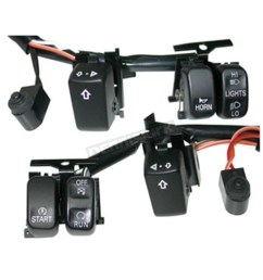 v factor handlebar switch wiring kit w black switches 15152 harley harley davidson ignition switch wiring harley davidson switch wiring [ 1200 x 1200 Pixel ]