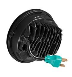 v2 led headlight hw195023 black 5 75 in v2 led headlight hw195023  [ 1200 x 1200 Pixel ]
