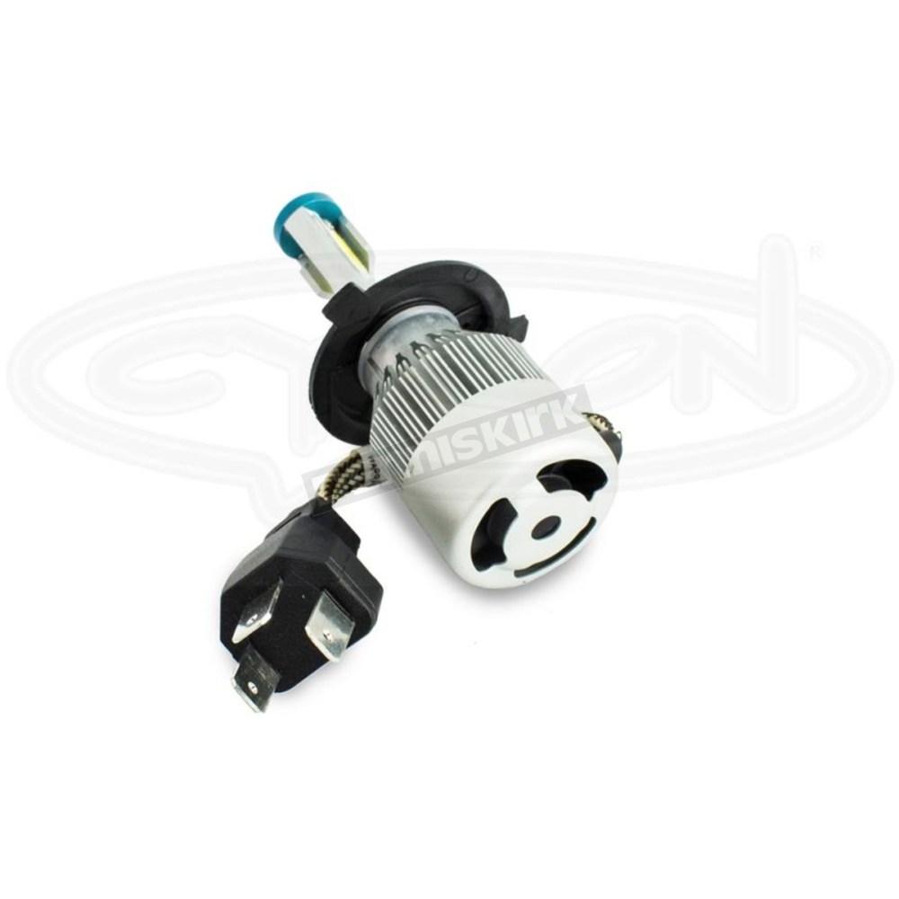 medium resolution of  standard series h4 led headlight bulb abh4 c6k