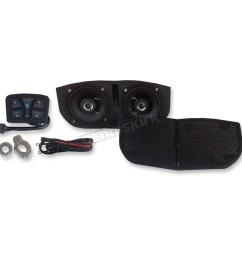hogtunes metrix audio bluetooth enabled speaker system for memphis shades batwing fairings msa1 bt [ 1200 x 1200 Pixel ]