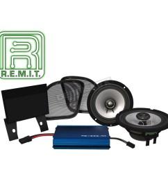 hogtunes rev series 225 amp speaker kit 225 rg kit rm [ 1200 x 1200 Pixel ]