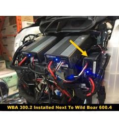 hogtunes wild boar 300 watt amplifier kit wba 300 2 harley hogtunes amp wiring harness [ 1200 x 1200 Pixel ]