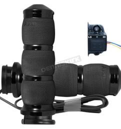 black air cushion anodized heated grips air 90 an fl ht [ 1200 x 1200 Pixel ]