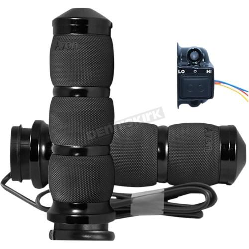 small resolution of black air cushion anodized heated grips air 90 an fl ht