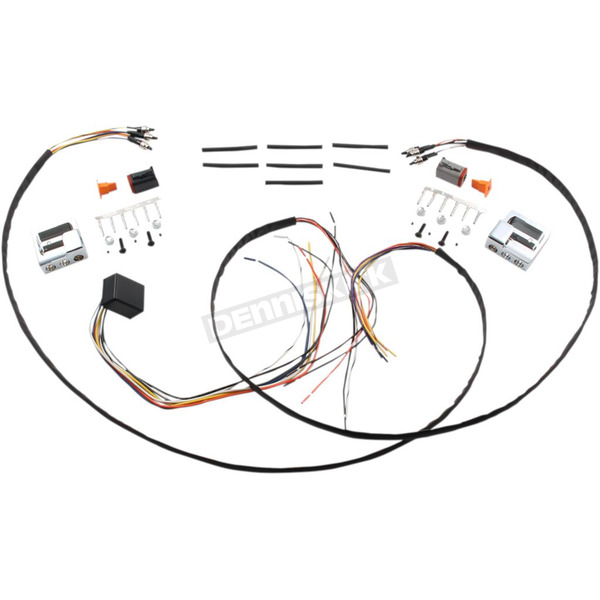 GMA Engineering Handlebar Wiring Harness w/Chrome Switch