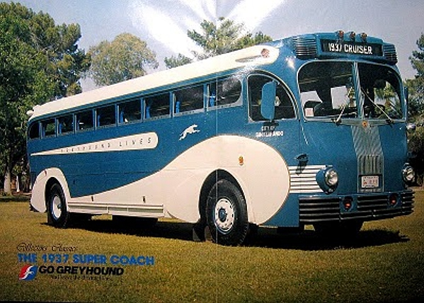 1937 Art Deco Greyhound