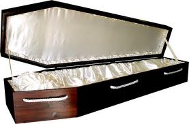 Adult size coffin