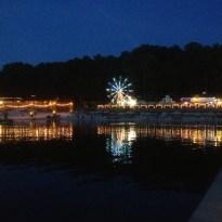 Night along the boardwalk at Lake Lanier Islands Resort