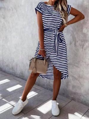 abito donna righe