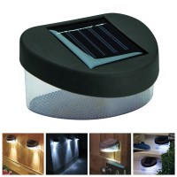 SOLAR POWER POWERED DOOR AND FENCE WALL LED LIGHT GARDEN ...