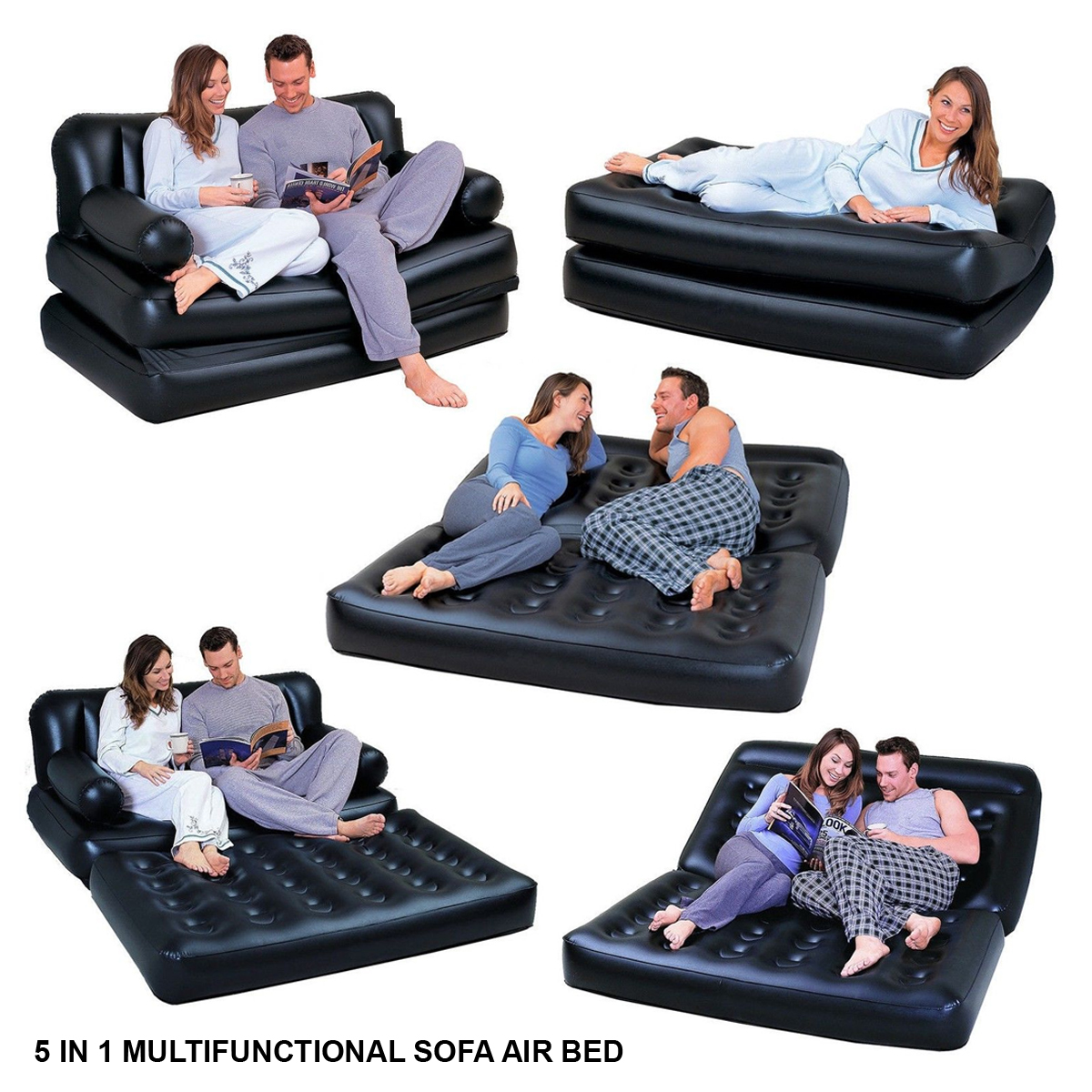 sofa bed bestway 5 in 1 country style table multi function in1 inflatable double air lounger