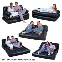 MULTI-FUNCTION 5 IN1 INFLATABLE DOUBLE AIR BED LOUNGER ...