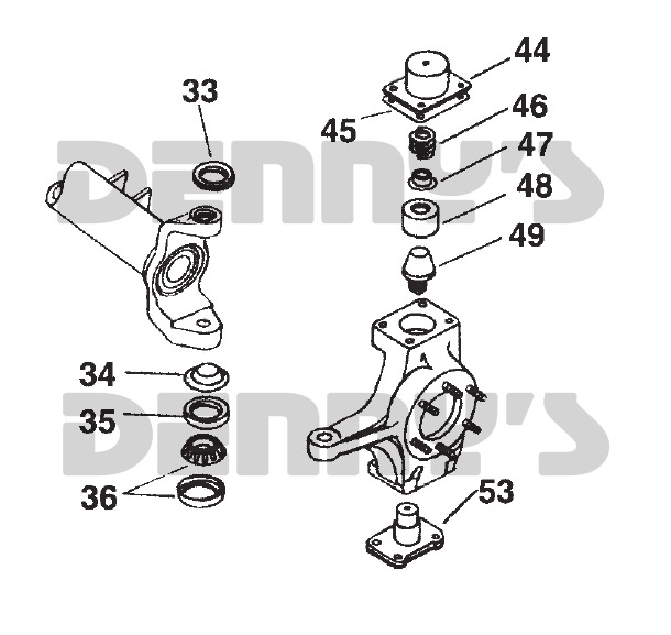SPICER 706395X Dana 60 Steering Knuckle Bearing and Seal