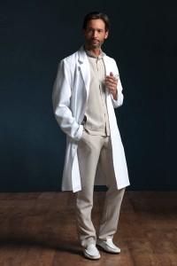 Bristol lab coat, Illetas Trouser and Brighton top
