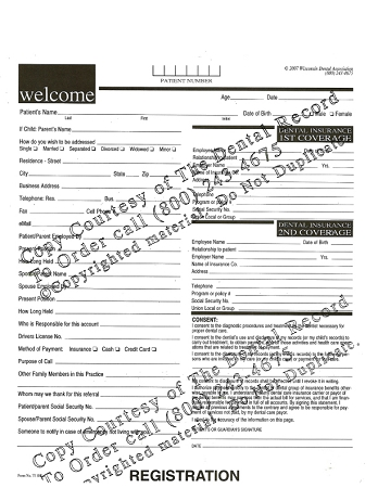 1 Year Digital Dental Patient Registration Form PDF