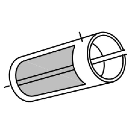 Adec Style slim 16mm H/V Suction hose 1.5m