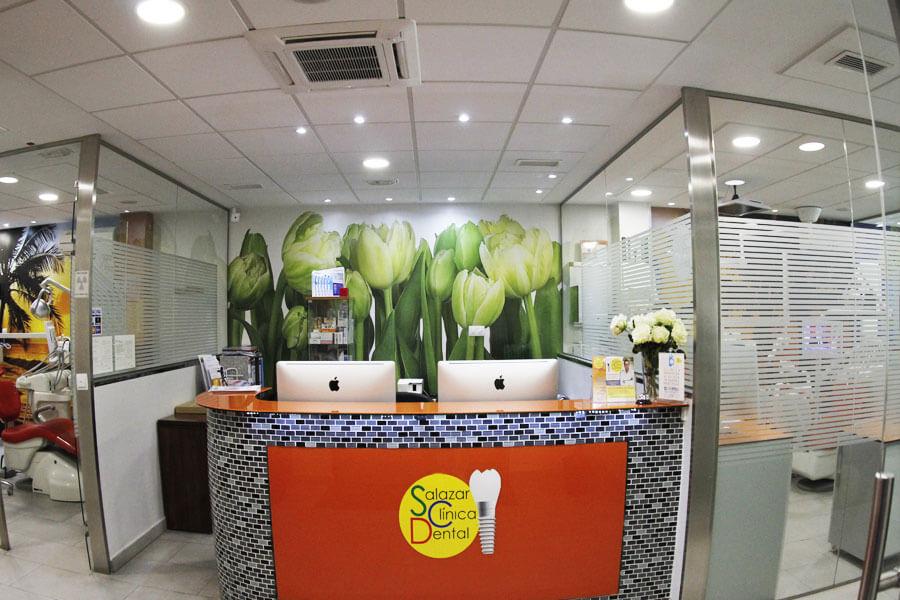 la recepcion de la clinica dental
