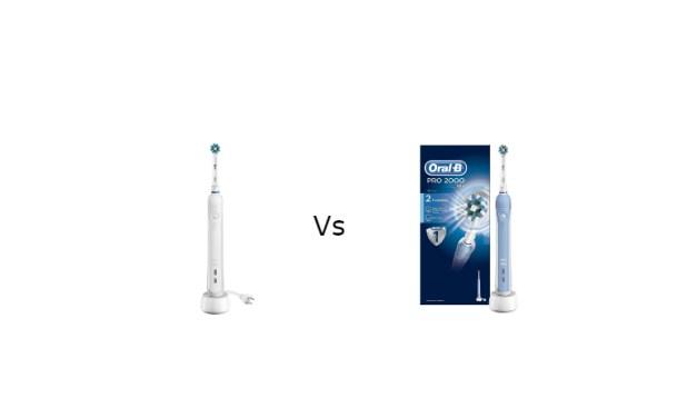 Oral-B Pro 1000 vs 2000