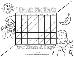 Motivational Charts for Children on Brushing Teeth