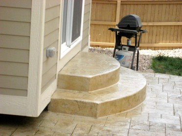 Stamped Concrete Patios are the rage in Denver now