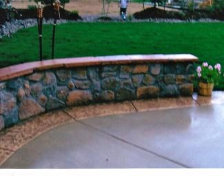 Stone Veneer Seating masonry design